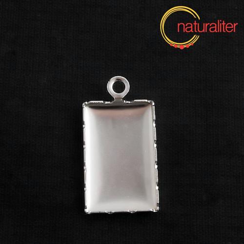 Lůžko obdélník 21,5x13mm platinová barva
