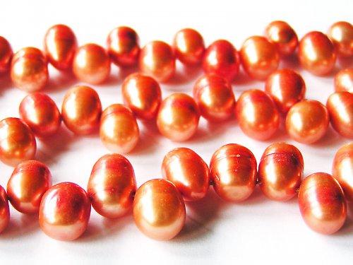 Vejčité oranžové perly ((PM95))