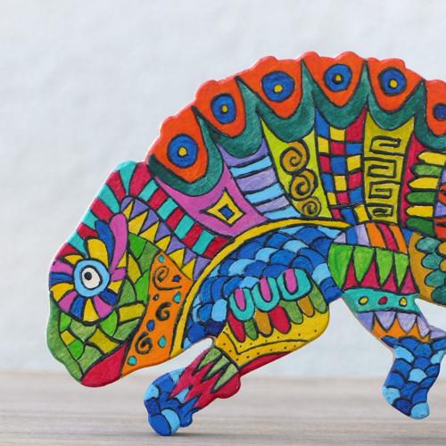 Chameleon jako malovaný