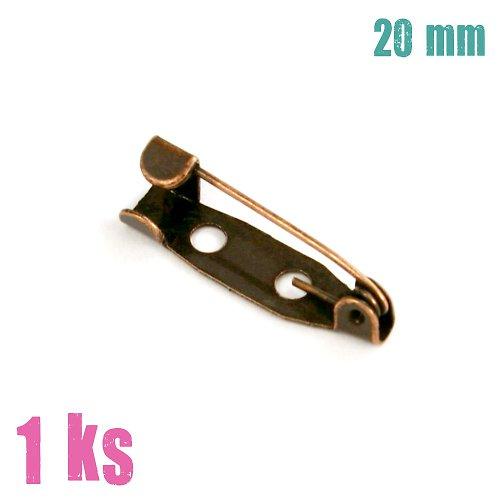 Měděný brožový špendlík 25 mm, 2 ks