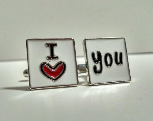 Manžetové knoflíčky skladem: Miluji Tě