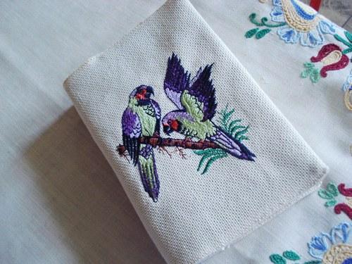Obal na knihu s papoušky