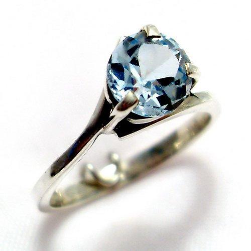 Prsten «Angie» - stříbro 925, modrý topaz