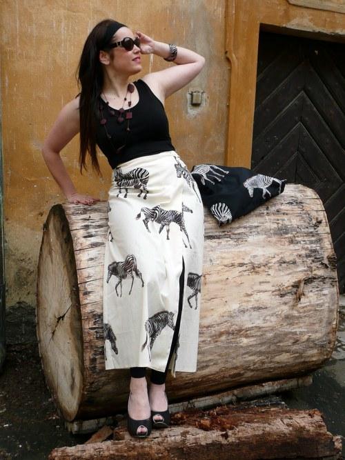 DeaDia sukně Zebra dlouhá