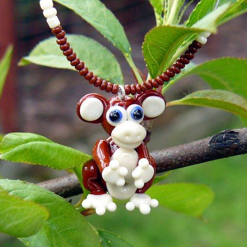 Náhrdelník opice - vinutá perle