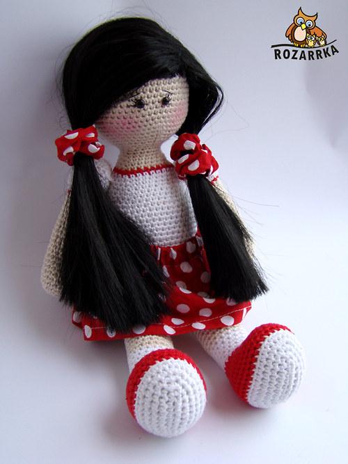 návod na háčkovanú bábiku (cca 31,5cm)