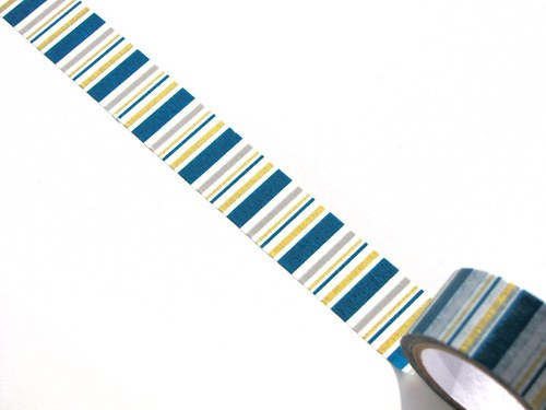 Páska: Tyrkysové a zlaté proužky (2 x 33 cm)
