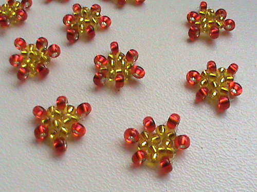 tvořilky-trojhránky červenožluté