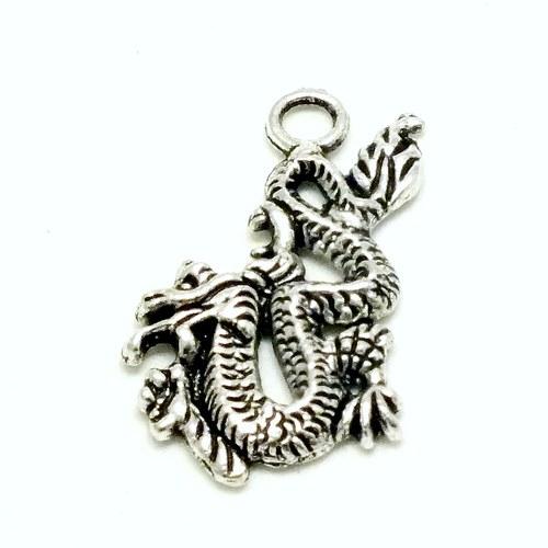 Přívěsek - drak kroutící se, 1 ks