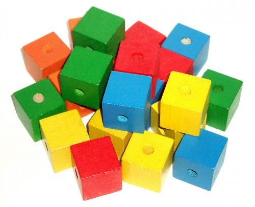 Dřevěné kostky - zelená barva