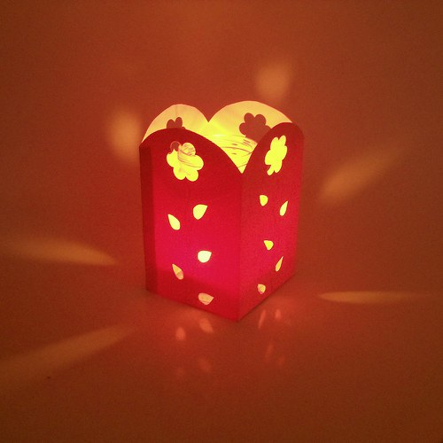 kytičkový svícen - růžový