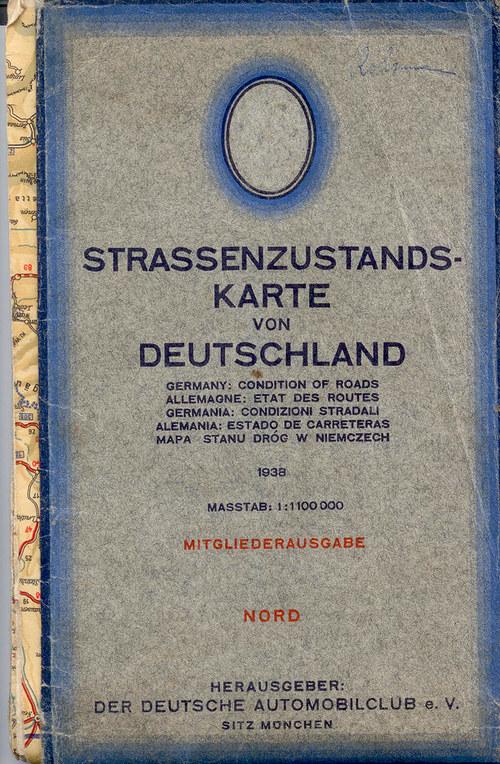 Mapa - STRASSENZUSTANDSKARTE VON DEUTSCHLAND 1938