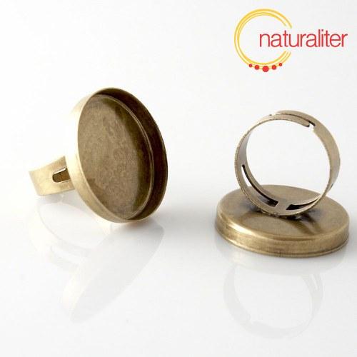 Základ na prsten s lůžkem 25mm starobronz
