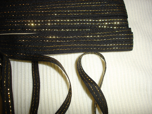 černozlatá stuha,cena za 1m
