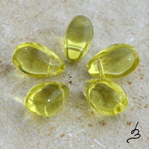 Žluté kapkovité, 10 ks