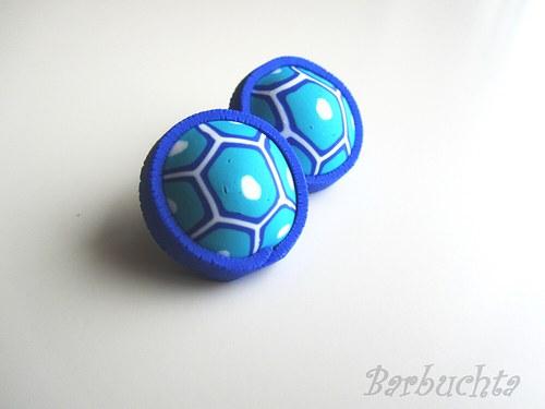 Želví náušnice modré