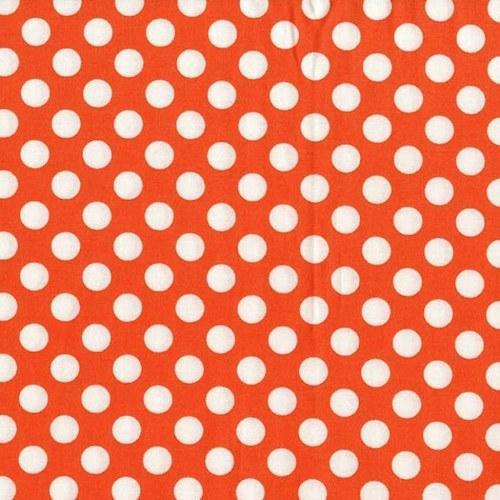 Puntíky oranžové Tangerine