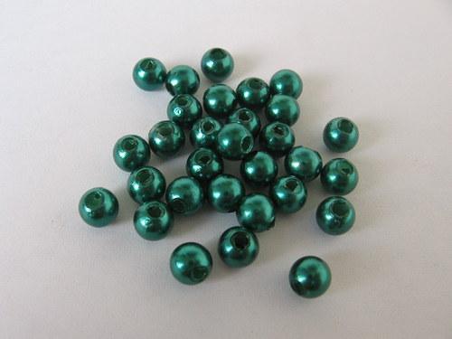 Voskové korálky - zelená 5 mm / 30 ks