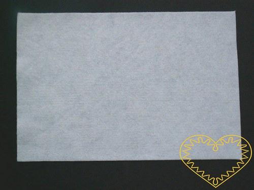 Bílá plsť - dekorační filc 30 x 20 cm