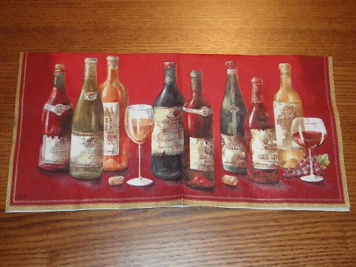 Ubrousek na decoupage - vína