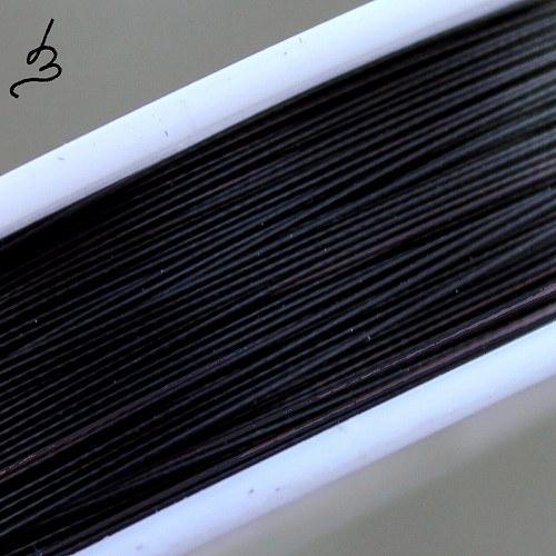 Ocelové lanko černé 0,38 - návin 70-80 m
