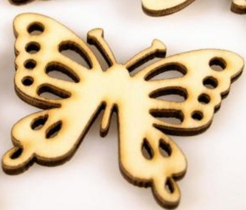 Motýl dřevěný 32x40mm výsek