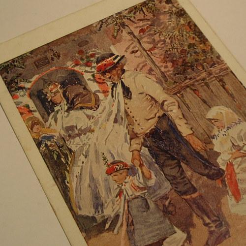 Joža Uprka PARTIE Z LANŽHOTU - pohlednice č. 1152