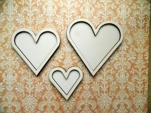 Srdce dvojité - malé 6cm
