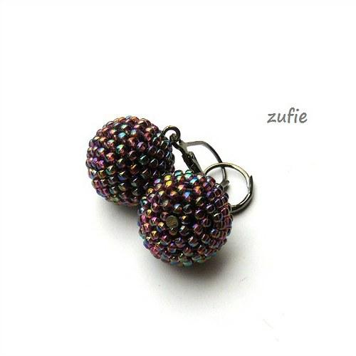 Kuličky fialově barevné velké