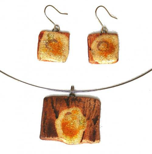 Autorská souprava: náhrdelník + náušnice