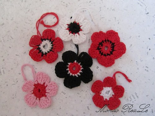 BLACK RED WHITE and pink