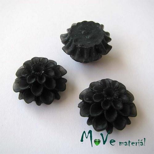 Kabošon květ transparent A5 - resin - 2ks, černý
