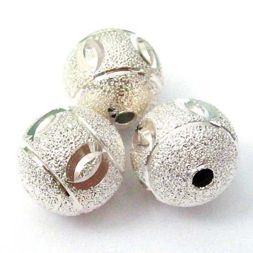 Stříbrný korálek - 12 mm