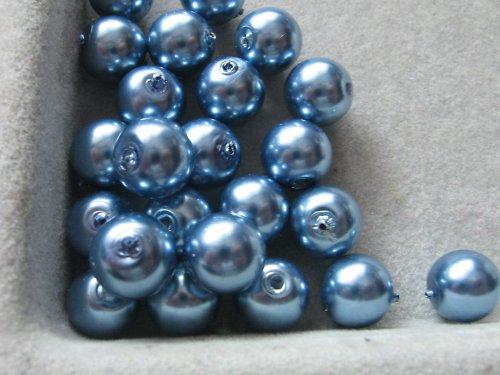 Vosková perla - sv.modrá 8 mm / 25ks