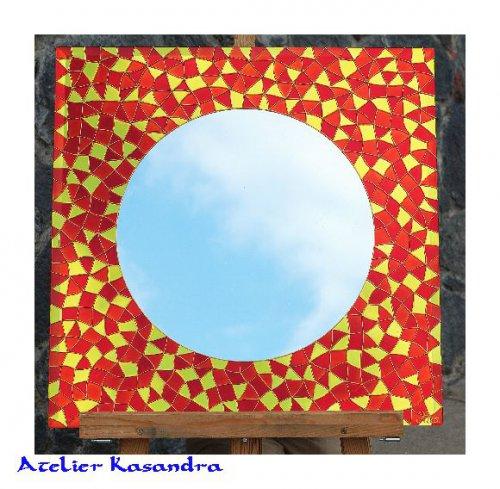 Zrcadlo malované 60x60 cm