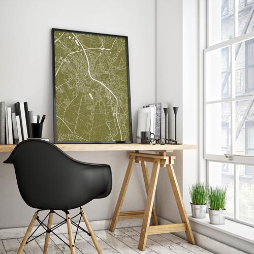 SALZBURG, 50x70cm, minimalistický, zlatý