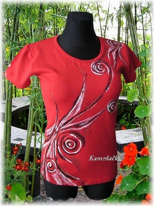 dámské tričko-vlny