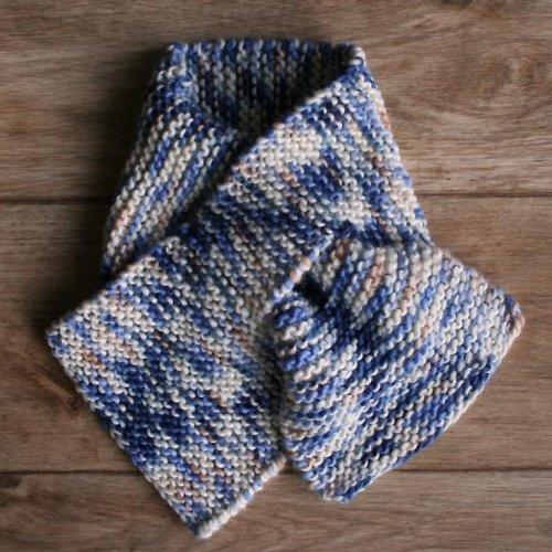 Pletená šála ze 100% MERINO vlny pro děti