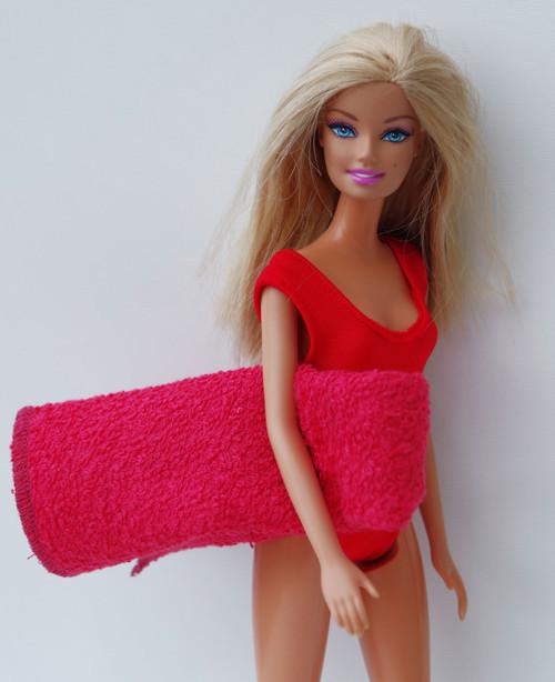 Plavky s osuškou pre Barbie