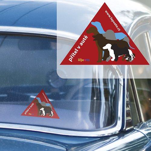 Přítel v autě - nálepka do auta