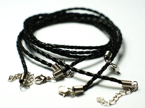 pletený řemínek černý
