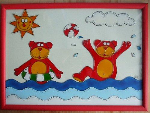 Medvídci ve vodě