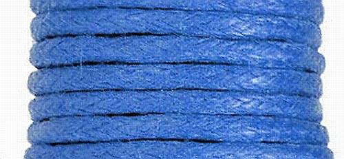 Voskovaný bavlněný  provázek 20m - Modrá