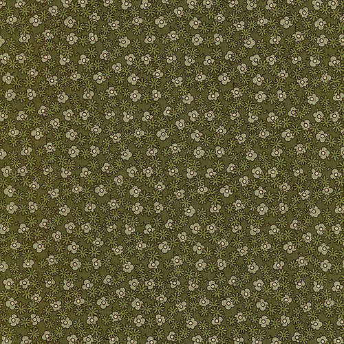 Bavlněná látka T0130-GREEN FLOWERS