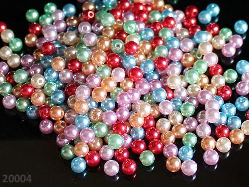 20004 Letní směs akrylových perel 6mm, bal. 30ks