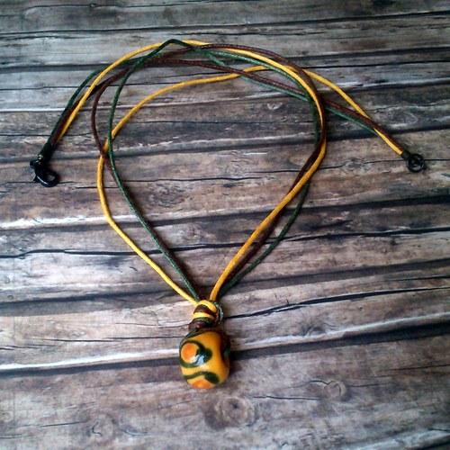 Čtyřbarevný náhrdelník