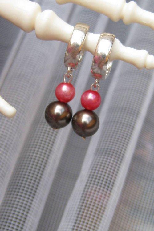 Náušničky Ag s perličkami