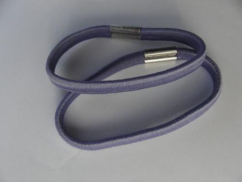 Gumička do vlasů, fialová 0,5 cm