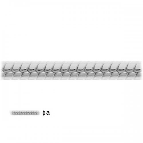 Řetízek Snake 0,7,stříbro Ag 925/1000,45cm