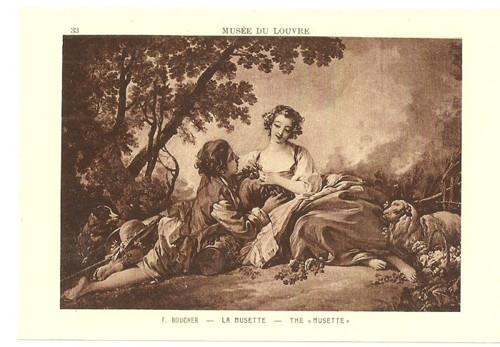 Umělecká pohlednice F.Boucher